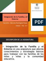 Programa de Estudio Integración de la familia y el entorno   (017)