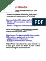La strategia del Piano di Sviluppo Rurale 2000-2006