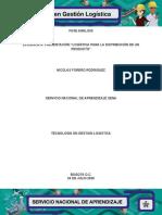 """EVIDENCIA 6 PRESENTACIÓN """"LOGÍSTICA PARA LA DISTRIBUCIÓN DE UN PRODUCTO"""""""