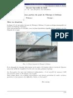 Etude de certaines parties du pont de l'Europe a Orleans