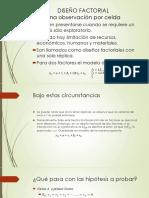 diseño Factorial(Una observación por celda)