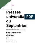 Claude Simon, la passion cinéma - Les Débuts du cinéma - Presses universitaires du Septentrion