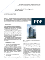 State-of-the-art structural designs and axial shortening studies of super high columns in a tall building