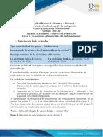 Guía de actividades y rúbrica de evaluación - Unidad 2- Tarea 2 - Ecuaciones diferenciales  orden superior