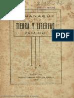 Almanaque de Tierra y libertad. 1921