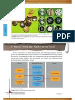 C. Proses dan Alat Produksi Kerajinan Tekstil