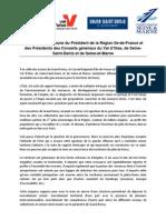 Déclaration commune Roissy