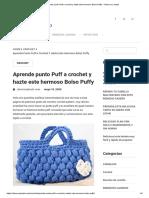 Aprende punto Puff a crochet y hazte este hermoso Bolso Puffy – Observa y Hazlo.pdf