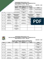 UPEA-CCI, Horarios Comercio Internacional, 2020-I
