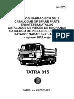 Каталог TATRA 815