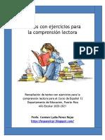 Textos con ejercicios para la comprensión lectora