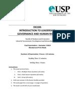 DG100 Exam