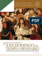 Subsidio - XXII Domingo del Tiempo Ordinario - Ciclo A