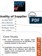 Criticality of Supplier Focus - Case Study