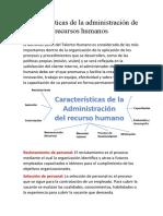 Características de la administración de recursos humanos.docx
