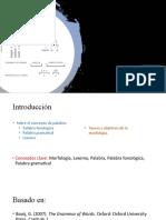 1_18-mar-20_Morfología y el concepto de palabra_Presentación