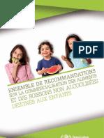 201101_OMS Recommandations Aliments Enfants