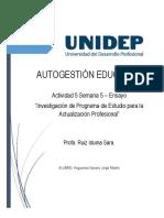 Investigación de Programa de Estudio para la Actualización Profesional - PROYECTO FINAL