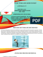 ACTIVIDAD 4 Y 5 PROCESO DE TOMA DE DESICIONES