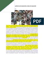 Apuntes sobre gobiernos de izquierda e ideas de izquierda Sandino