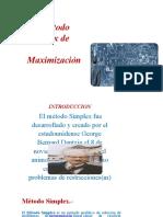 METODO-SIMPLEX-MAXIMIZACION. exposicion