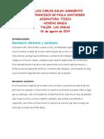 TALLER MOVIMIENTO ONDULATORIO. 9° AGOSTO 2019
