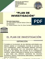 Presentación PLAN DE INVESTIGACIÓN 2019