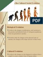 Human Bio-Cultural Social Evolution