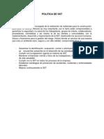 POLITICA Y OBJETIVOS DE SST