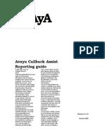 Avaya Callback Assist Reporting Guide
