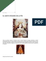 EL SANTO ROSARIO EN LATÍN rtodoxia Católica