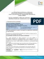 Guia de actividades y Rubrica de evaluacion - Unidad 1 - Tarea 1- Identificar fuentes de contaminacion y sus impactos.docx