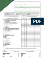 Formato Inspección de Ingreso Para Vehículos