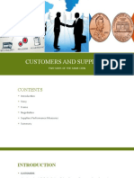 Customers and suppliers