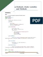 methods java assignment