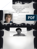 Презентация John Winston Ono Lennon