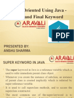 Super and Final in Java