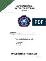 AMI UTP 2018 - Form 06 Laporan Hasil Audit