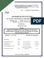 Apport de la télédétection et des SIG pour le suivi de la qualité physico-chimique des eaux du Barrage de Telesdit dans la wilaya de Bouira