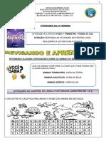 ATIVIDADES DA 21ª SEMANA 1º ANO REVISADO