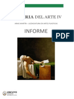 Historia del Arte IV - Informe 2020.