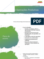 GesTào de Operações Produtivas aula 1