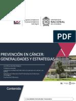 Prevención en cáncer