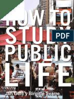 JAN GEHL how to study public life   ESPAÑOL