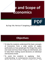 1 scrib upload Course Introduction Nature and Scope of Economics