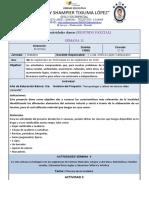 ACTIVIDADES DIARIAS - MIERCOLES 02 DE SEPTIEMBRE