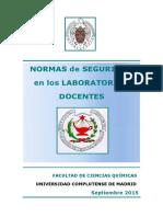 Normas de seguridad en laboratorios docentes