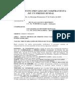 CONTRATO DE COMPRAVENTA  LOTE RURAL MANUEL CHAMORRO Y MARIA ADELAIDA OROZCO ACTUAL VALOR