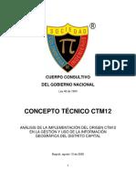 SCI - CONCEPTO TÉCNICO CTM-12
