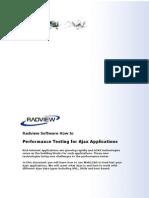 Performance testing Ajax-based applications